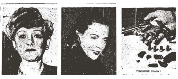 three photos, gun in the last one on the right