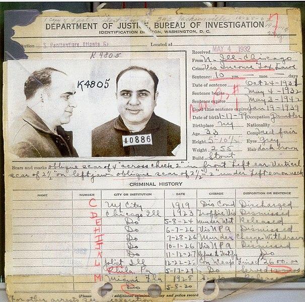al capone's criminal record
