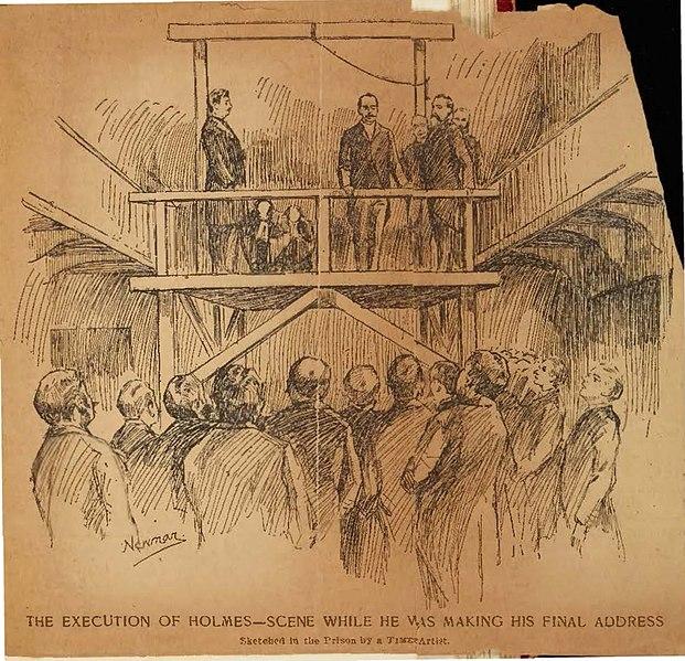 Execution of H H Holmes Philadelphia Moyamensing Prison 1896